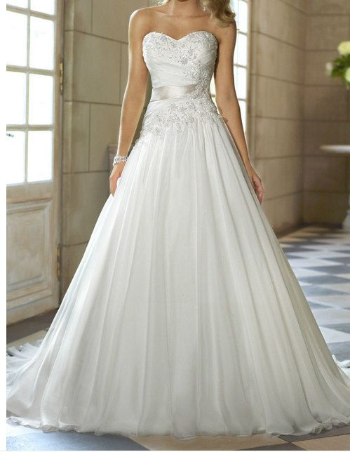 ***RACH, THIS IS IT!! LOVE LOVE LOVE IT!! Aline wedding dress White / ivory applique sweetheart by JUMX, $153.00  love love love this one!!