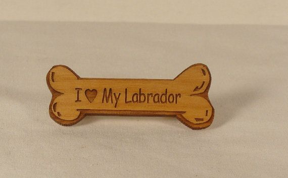 Lot of 4  I Love My Labrador Dog Breed Pins by gclasergraphics,