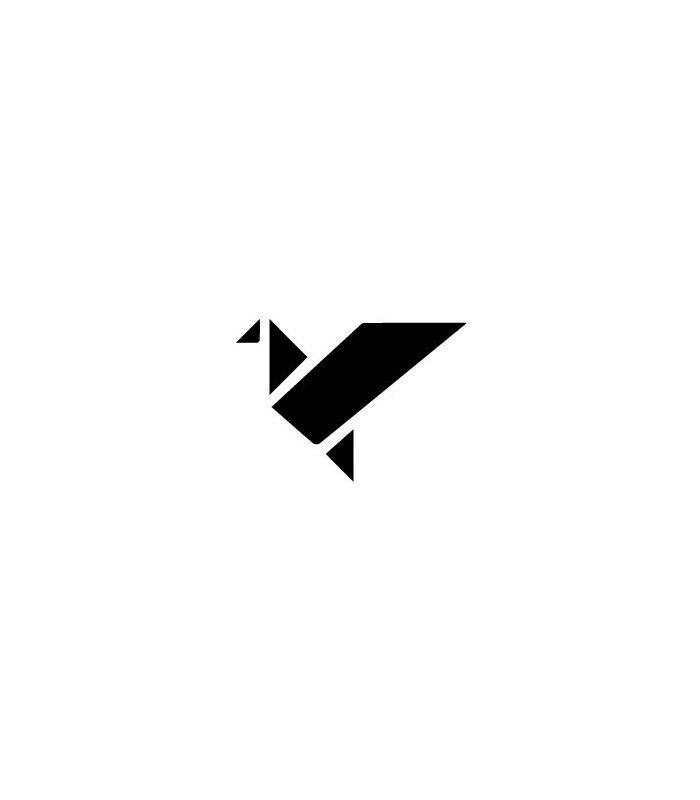 Tampon gomme naturelle -  Oiseau origami plein
