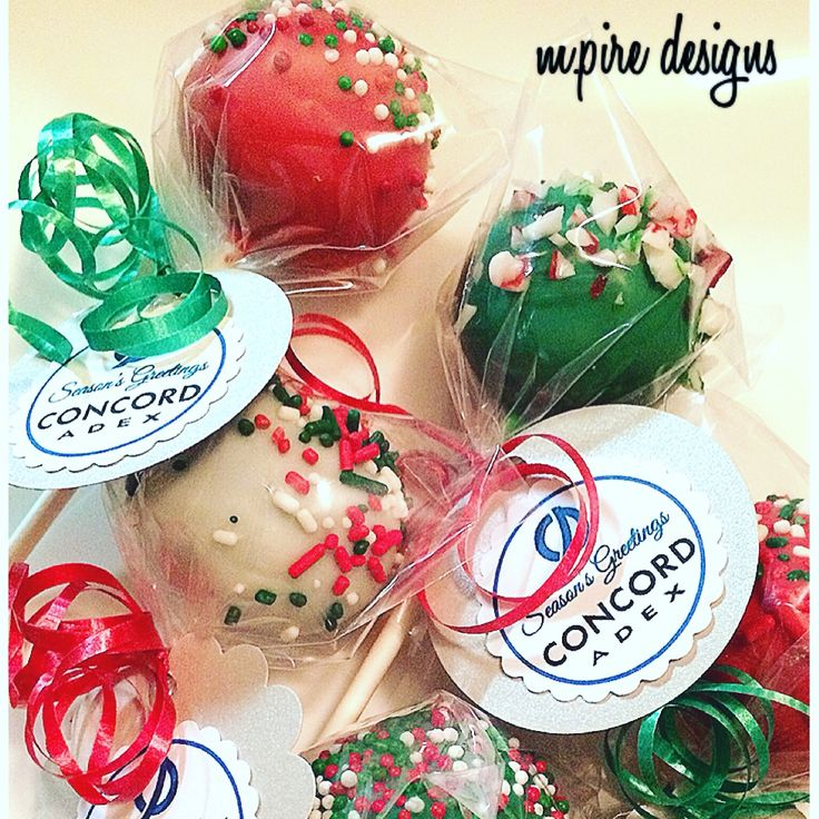 #tbt to last year's #corporate samples for Concord Adex  #cakepops #cakepopfavors #favors #ediblefavors #favortags #tags #personalize #holidays #holidayparty #xmas #candycane #sprinkles #red #green #white #weddings #events #cakepoplady #cakeboss #mini #bitesize #cakepopdelights #blog #instablog #etsy #etsyseller #toronto #mpiredesigns