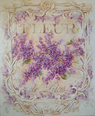 lilac painting- Jonny J Petros