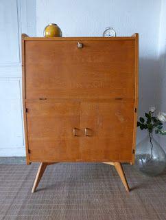 1000 ideas about secretaire vintage on pinterest - Bureau secretaire vintage ...