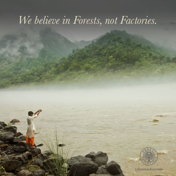 Handmade Forest Essentials products are made in the villages of Uttaranchal in the Himalayas with local labor.