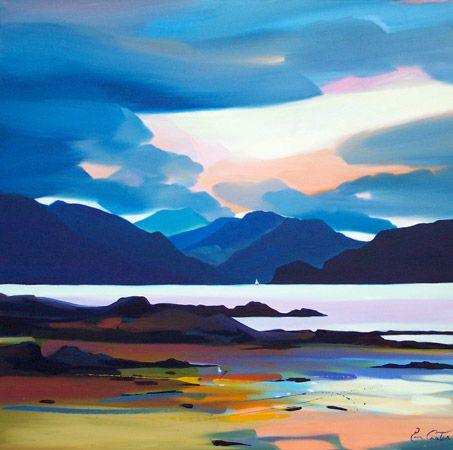 Skye. I love Skye, there's something indescribably soothing about its wildness.  Pam Carter,  'Back to the Sound, Sleat, Skye'