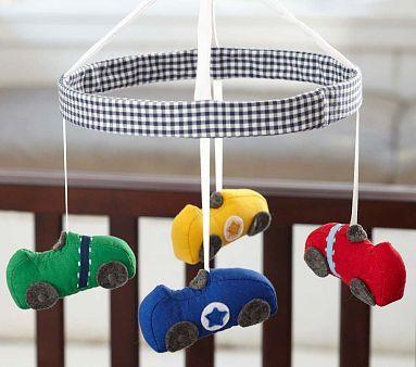 Race Car Crib Mobile #PotteryBarnKids
