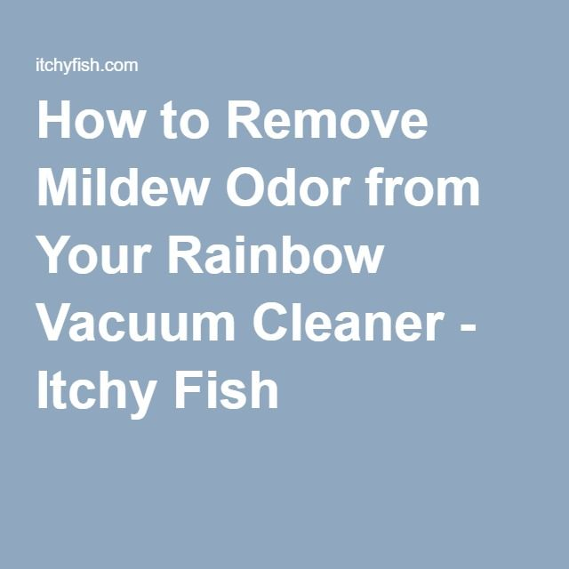 How to Remove Mildew Odor from Your Rainbow Vacuum Cleaner - Itchy Fish