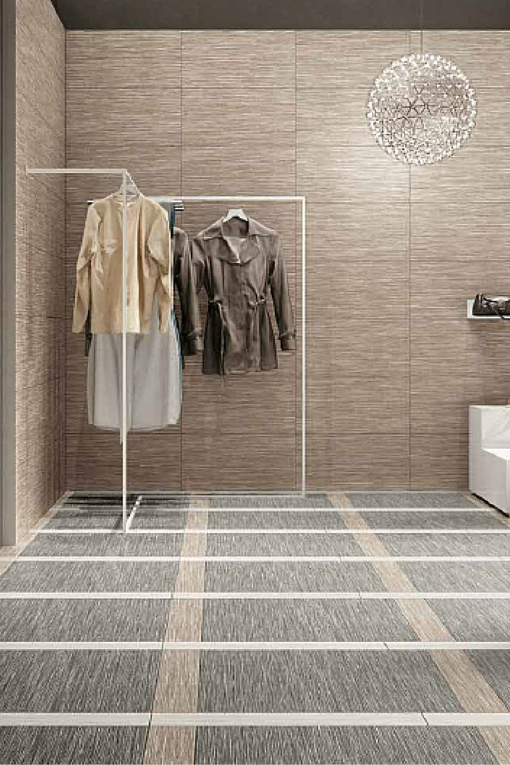 Upgrade your boutique with these sophisticated and stylish porcelain floor tiles with a carpet fabric effect. Perfect for floors or walls. Check out this Cotton Biscuit Silver tile from the Wooow Collection, available now at Byrd Tile Distributors in Raleigh, NC: http://byrdtile.com/ #ByrdTile #floortiles #boutiquedesign #commercialdesign
