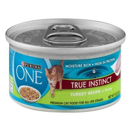 Purina One True Instinct Cat Food Turkey Recipe in Gravy, 3.0 OZ