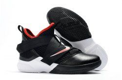 a4d4299fd96 Nike LeBron Soldier 12 women s Basketball Shoes Black White Red in ...