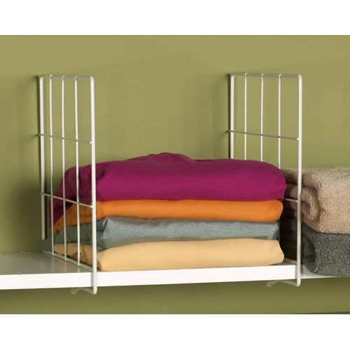 Organize Items From Linens To Books With These White Wire Shelf Dividers For The Home