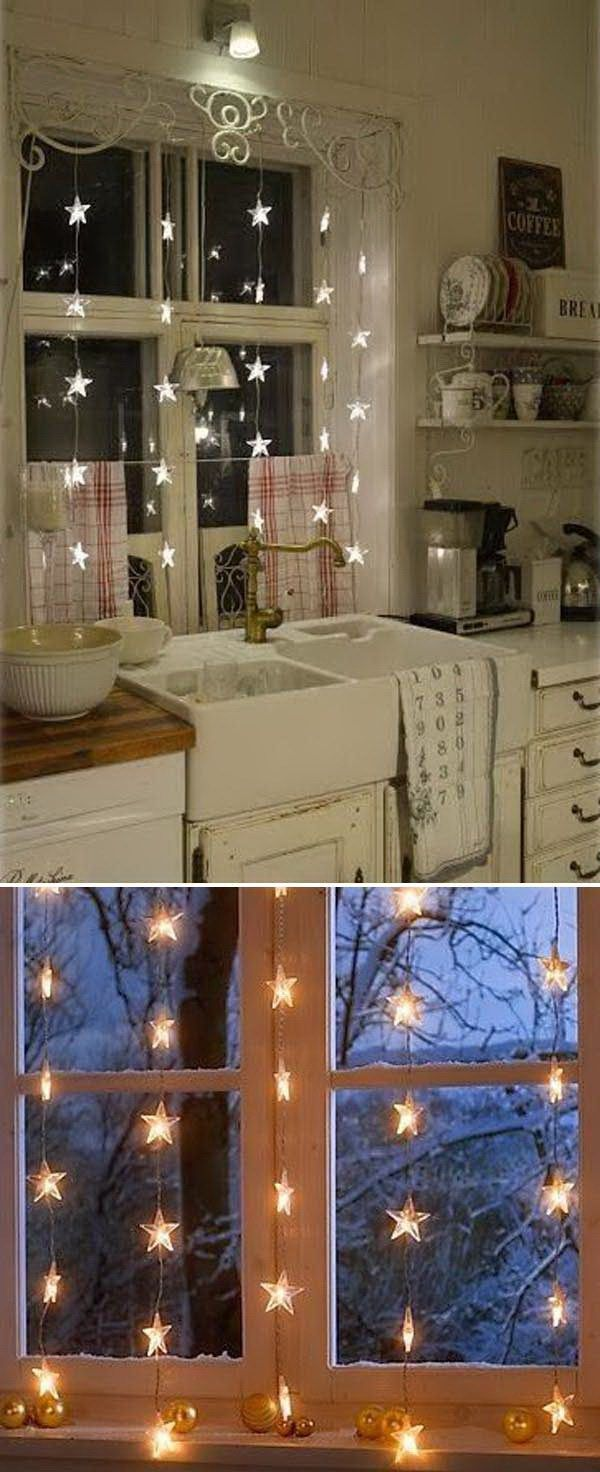 Christmas Lights Window Decor. Don't overlook your window decoration for hol…