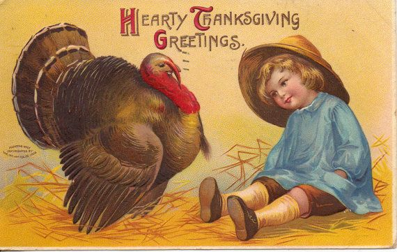 Hearty Thanksgiving Greetings Ellen Clapsaddle by OldFangledFinds, $15.00