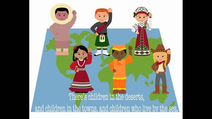 Kids Songs - Hello to all the Children of the World - Kid friendly