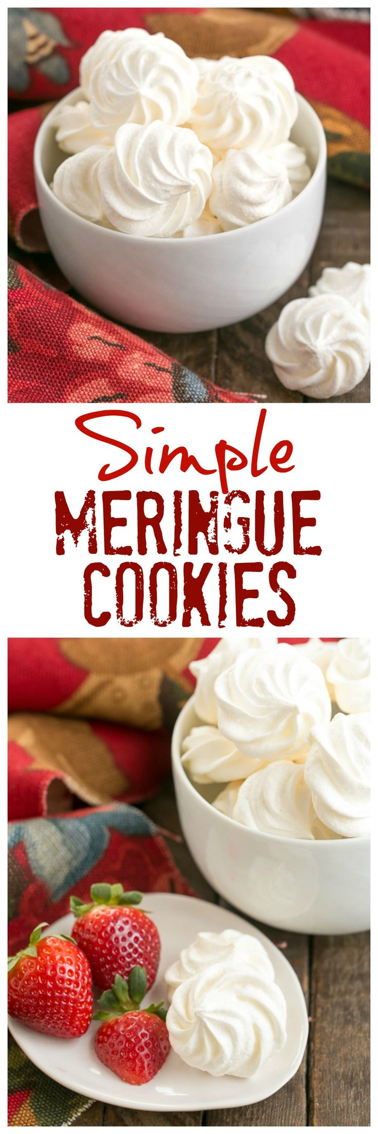 Simple Meringue Cookies | Sweet, ethereal, melt in your mouth cookies @lizzydo