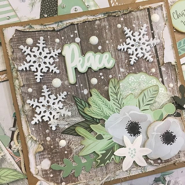 Gorgeous Christmas card inspiration from @uniquely.creative.kits  Judging by all of your beautiful projects, Mint Wishes sure is a fave this month! . . . . #kaisercraft #mintwishes #cardmaking #christmas #cards #handmade #christmascards #cardmaking #kaisergallery