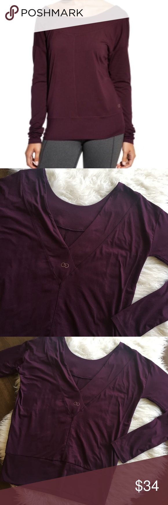 "CALIA Carrie Underwood Purple V Back Long Sleeve Deep purple long sleeve top with a v back detail. Excellent condition. 💫 Smoke free home. Offers are welcome though the ""offer"" button. No negotiations in the comments. No trades/holds/modeling requests, please. 1 day average ship time. Bundle multiple items for a discount and only pay for shipping once! CALIA by Carrie Underwood Tops"