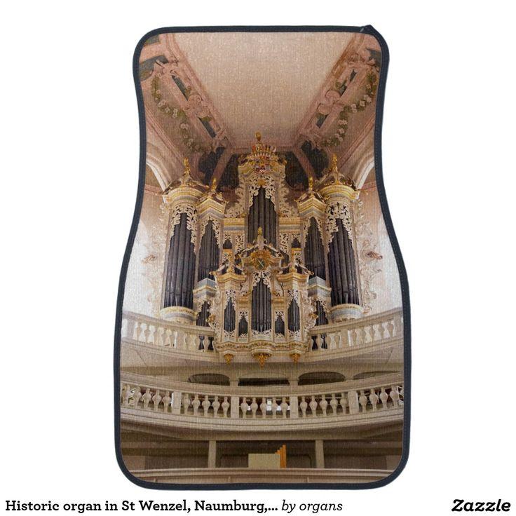 Historic organ in St Wenzel, Naumburg, Germany Car Mat