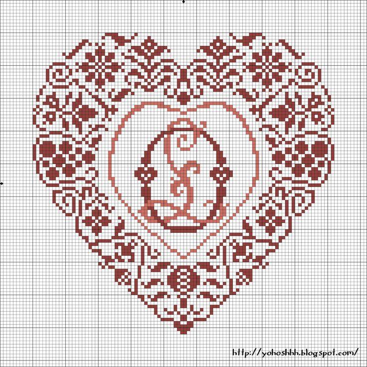 Крестики без ноликов: Heart with Monogram O & L