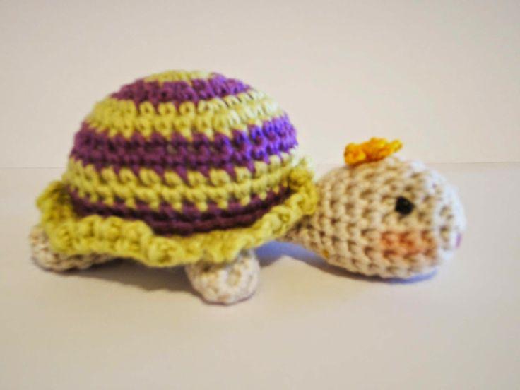 Вязание крючком: Вязаная ЧЕРЕПАХА  Little Turtle Crochet (+плейлист...