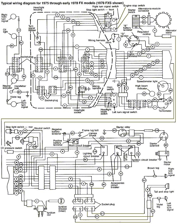 harley engine wiring diagram 79 harley fx wiring diagram #9
