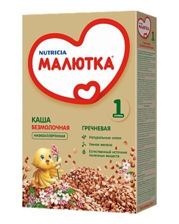 Малютка гречневая безмолочная 200 г  — 99р. -------------------- Каша гречневая безмолочная Малютка от 4 месяцев, с витаминами и минералами