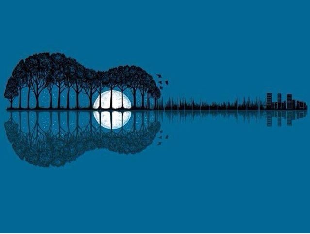 Music on the Lake. #art #artwork #musicart www.pinterest.com/TheHitman14/music-art-%2B/