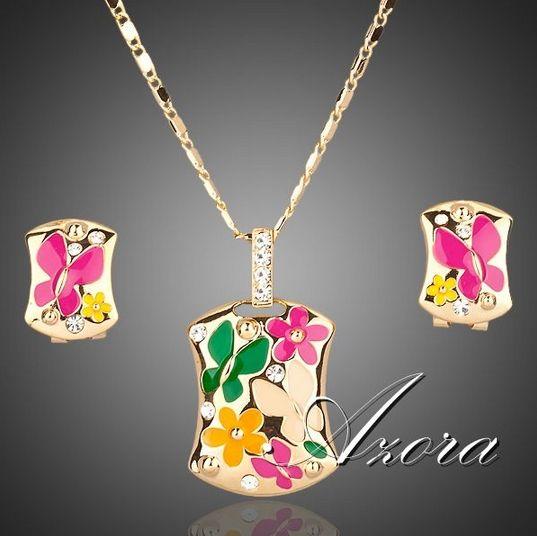 18K Real Gold Plated Jewelry Set