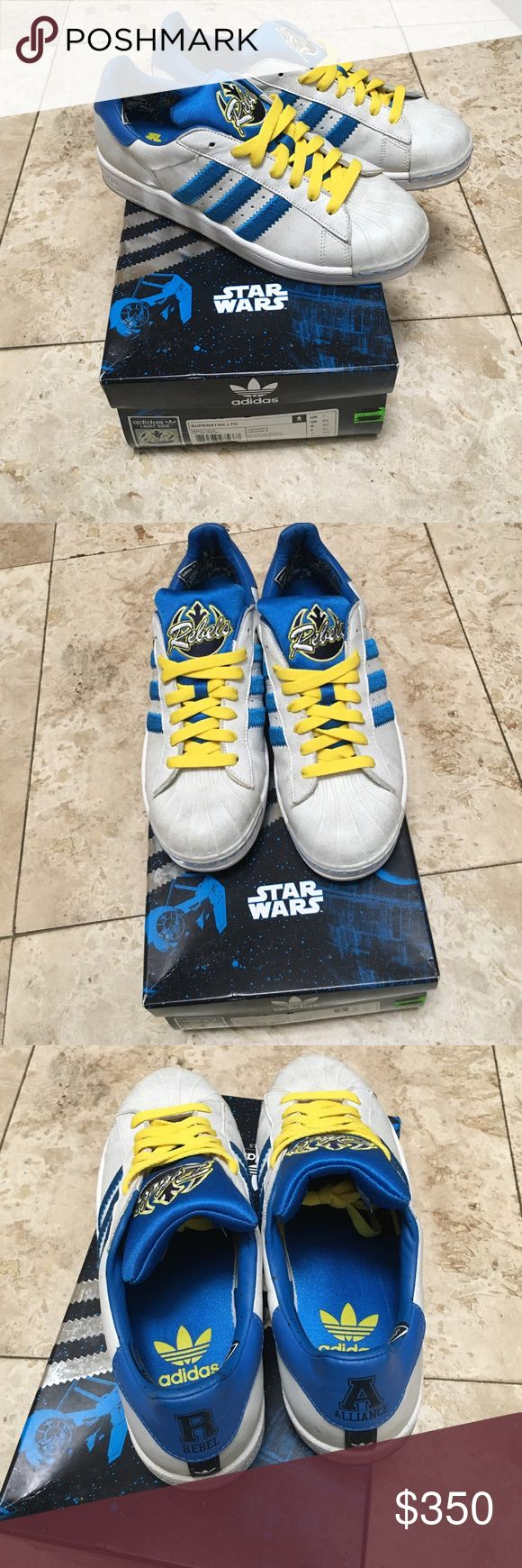 """Mens Star Wars Adidas Superstar Limited Edition Adidas Superstar Star Wars """"Rebels"""" Sneakers. NWT & box. Collectors item! Limited Edition. Adidas Shoes Sneakers"""