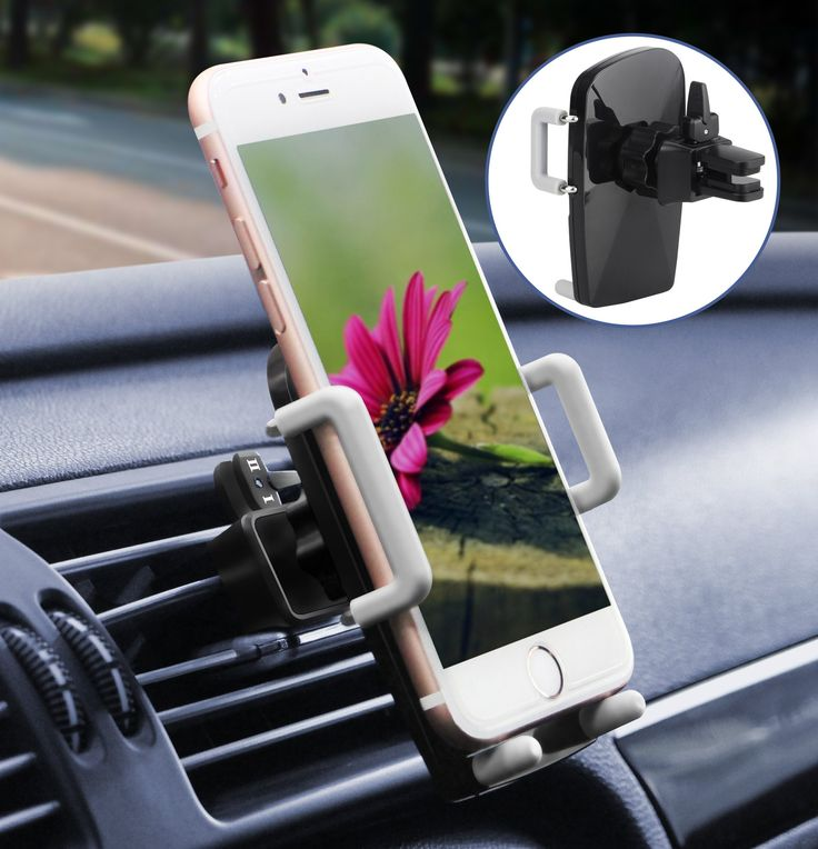 Car Phone Holder, ilikable Universal Air Vent Car Phone Mount Cradle with 360 Degree Rotation for iPhone 8 7 6 SE 5C 5S Android Samsung Galaxy LG HTC Smartphone GPS and More (Black)