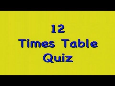 Kidzone - Twelve Times Table Quiz