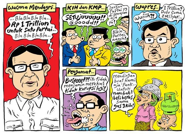 Mice Cartoon, Rakyat Merdeka - Maret 2015: Wacana Mendagri