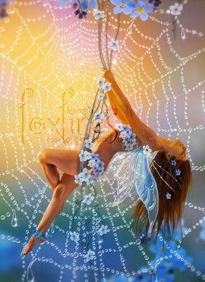Spider web fairy aimee stewart art | littlebluefairycardaimeestewart.jpg