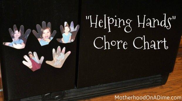 """Helping Hands"" Chore Chart for Preschoolers"