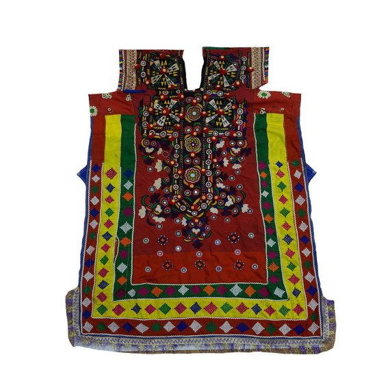 Antique Banjara Hand Stitched Dress Front Gypsy by MyCraftPalace