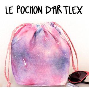 DIY pochon cosmic trip par la blogueuse Artlex