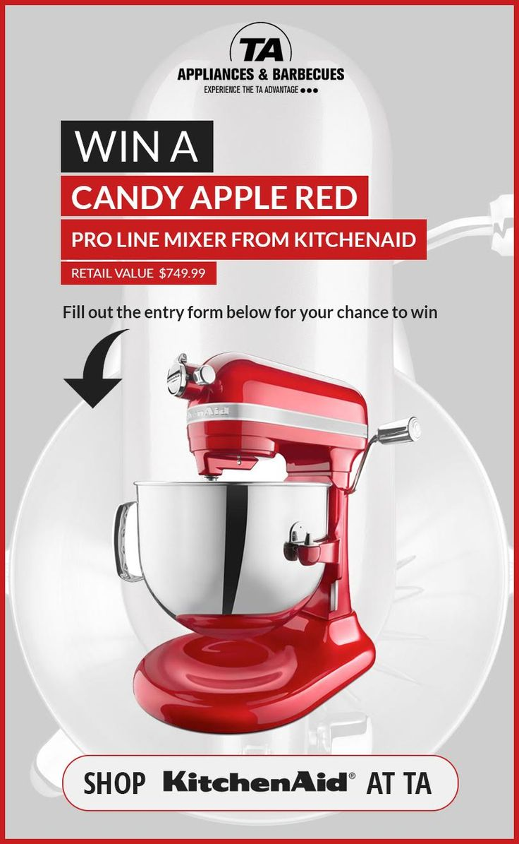 Enter to Win a KitchenAid Pro Line Stand Mixer