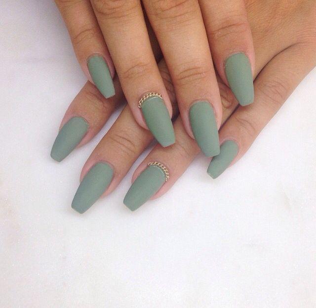 olive green matte | nails | Pinterest | Matte nails ...