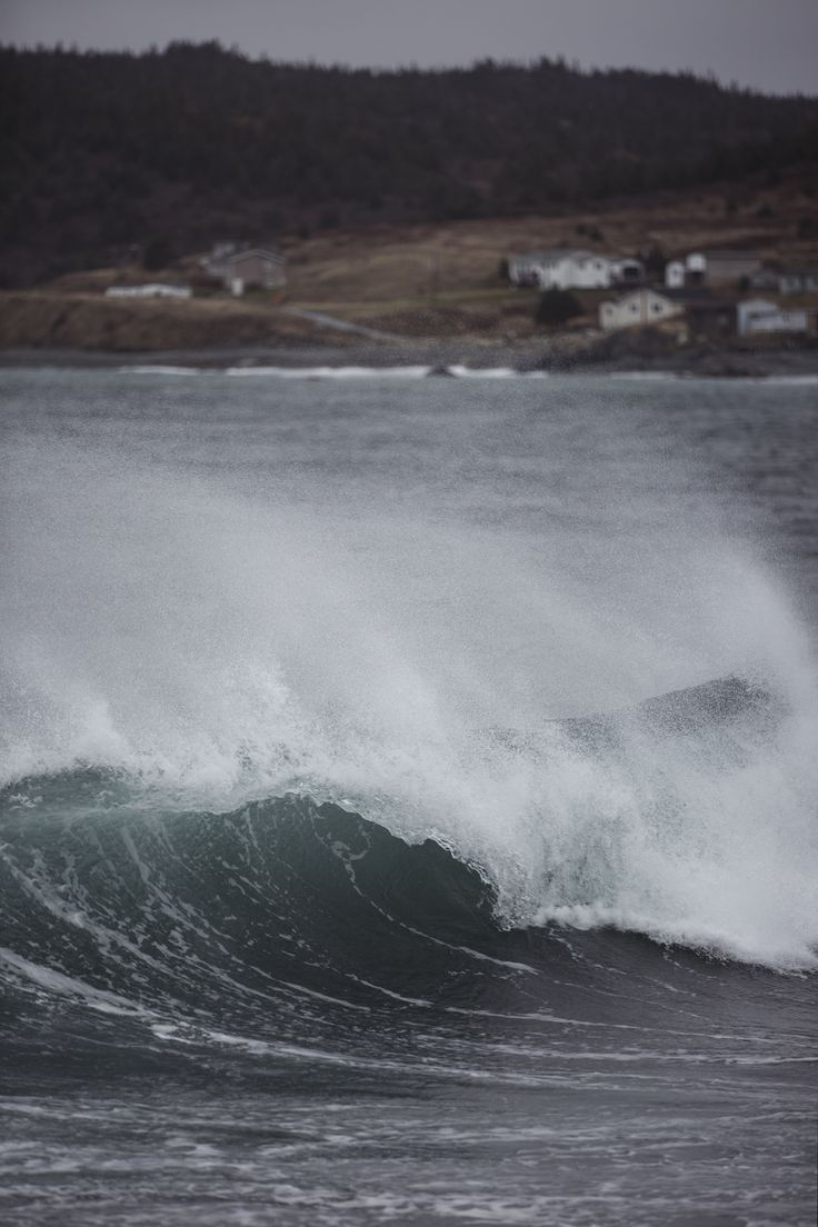 Beautiful cold water waves off the Coast of Newfoundland.  #canada #surfing #waves #ocean