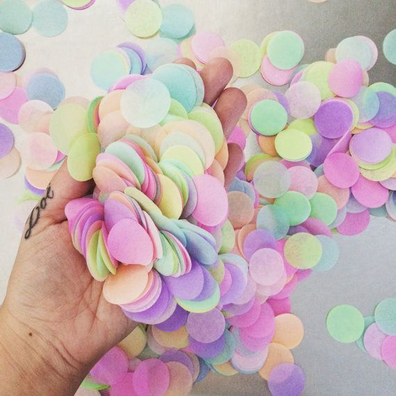 TISSUE PAPER CONFETTI / table decoration / party by PomLove