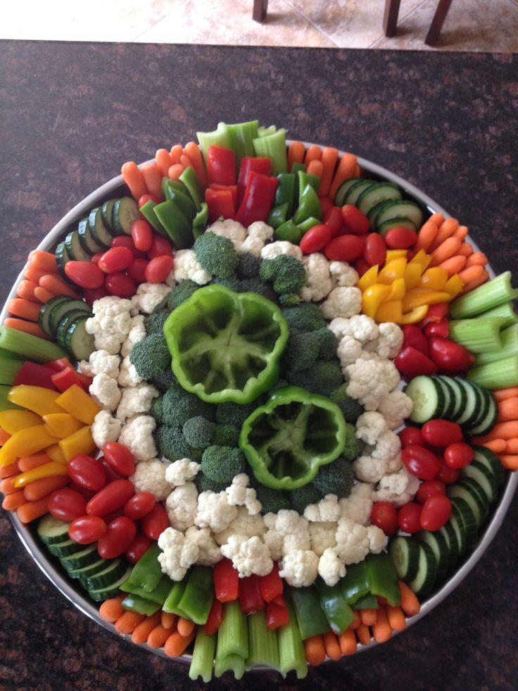just a veggie tray