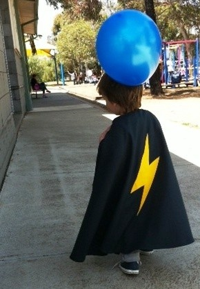 Kids Superhero / Magician Cape & Mask. Dress Up, costume - One size fits most - by orcwood on madeit