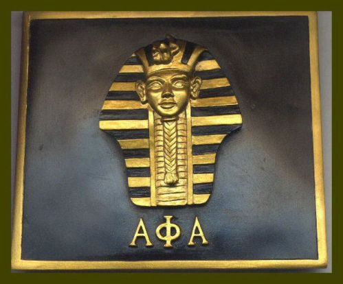 Alpha Phi Alpha Fraternity Sphinx Art Plaque by DevotedGreek, $15.00