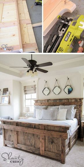 bett selber bauen 12 einmalige diy bett und bettrahmen ideen haus pinterest chambre bois. Black Bedroom Furniture Sets. Home Design Ideas