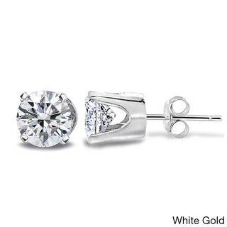 DB Designs 14k Gold 1/2ct TDW Diamond Round Stud Earrings (G-H, I2-I3) -