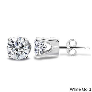 DB Designs 14k Gold 1/2ct TDW Diamond Round Stud Earrings (G-H, I2-I3) -