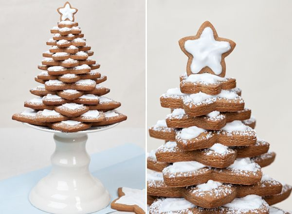This year instead of making a gingerbread house, I decided to try a homemade gingerbread tree! I found these star cookie cutters from Crate and Barrel that are for making gingerbread trees. They're on sale now too! I also followed my gingerbread recipe from last year, which you can find here. This would be an awesome centerpiece for a dessert …