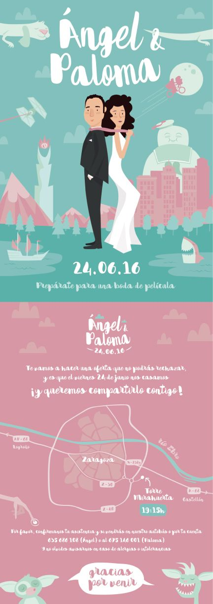 Wedding invitation, film inspiration