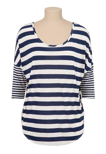 Multi Stripe Dolman Top (original price, $24) available at #Maurices