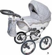 Maxima коляска для новорожденных maxima lux  — 30000р. --------- производитель: maxima  особенности детской коляски maxima lux:изящная коляска stroller b&e «maxima lux» − это стильное средство передвижения в помощь маме для ежедневных прогулок с малышом.она имеет исключительно оригинальный внешний вид, отличается плавностью линий, необычным «кружевным» декором накидки и капюшона.при этом данная коляска не только очень красива, но и необыкновенно комфортабельна и уютна, что делает ее…