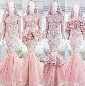 baju nikah dusty pink 2016